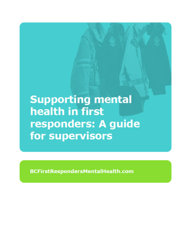 Supporting mental Health in first responders
